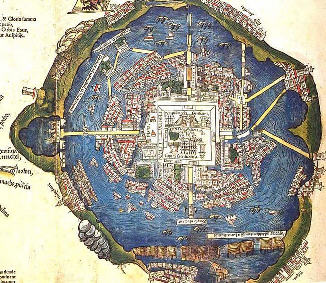 Le plan de Tenochtitlan au XVI<sup>e</sup>siècle