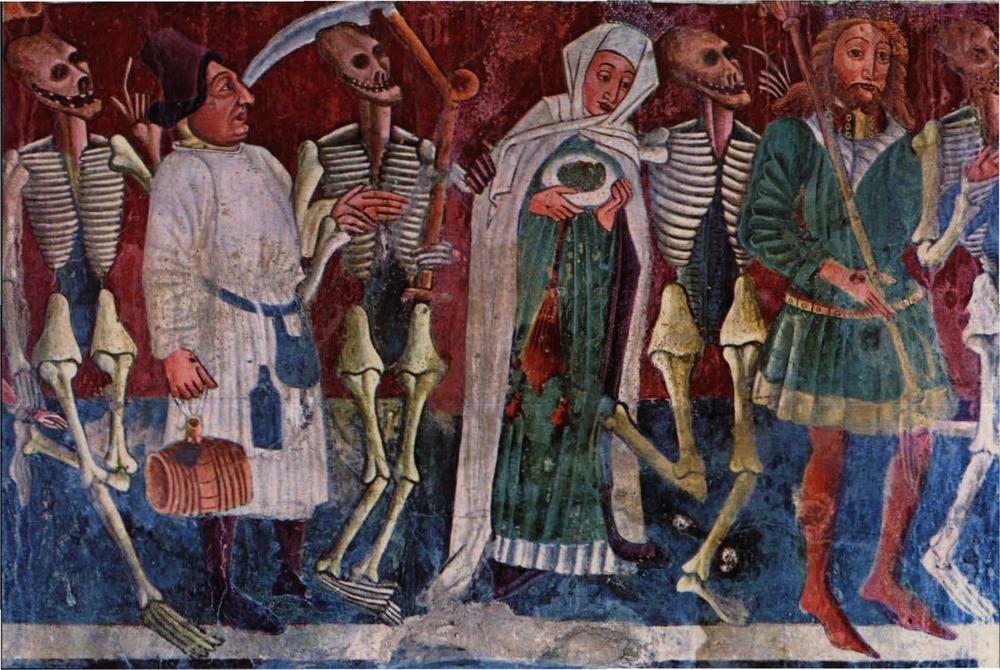 Illustration d'une danse macabre