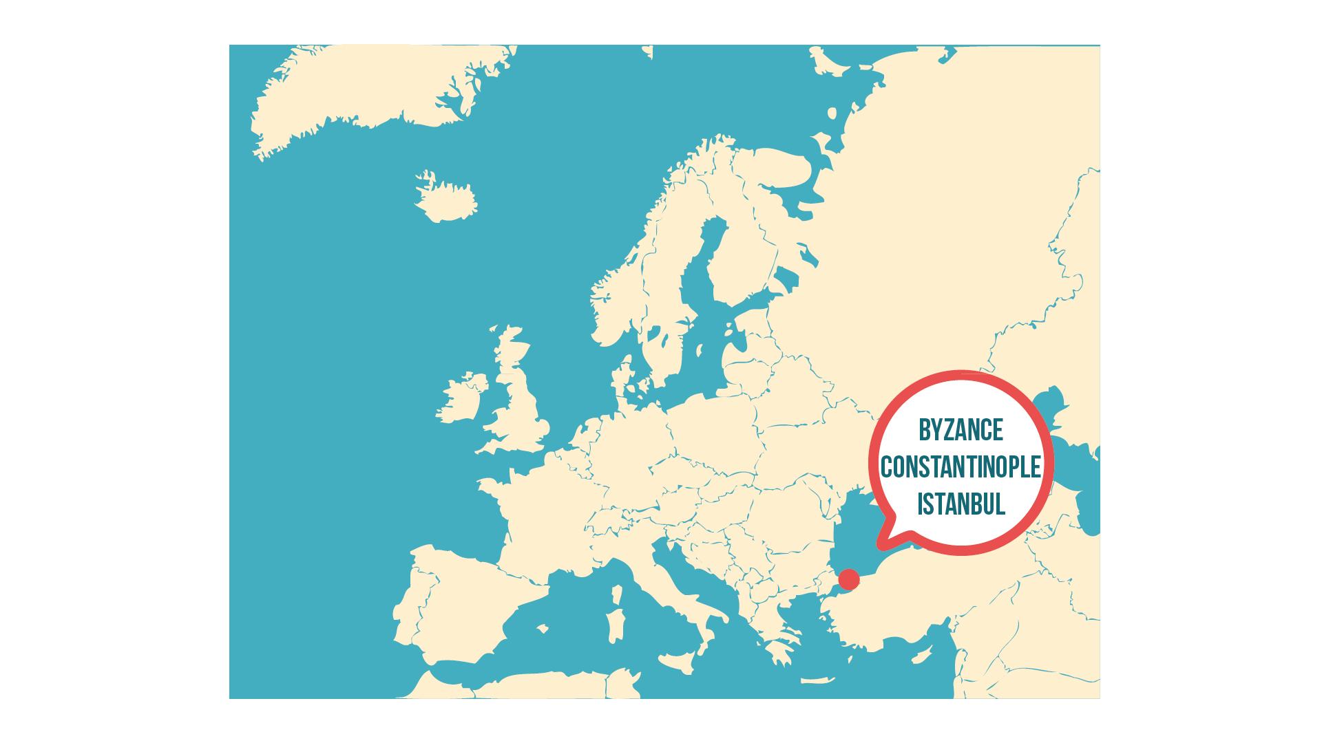 Localisation de Constantinople