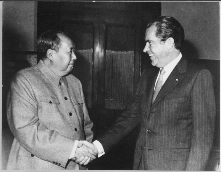 Photo de Nixon et Mao