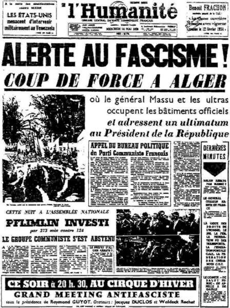 """Résultat de recherche d'images pour """"13 mai 1958"""""""