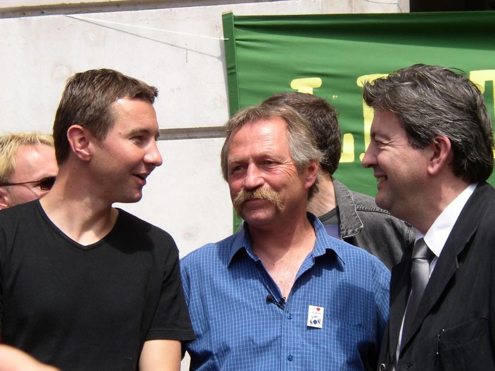 Besancenot, José Bové et  Mélenchon