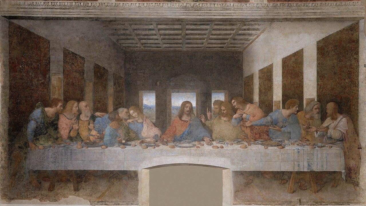 La Cène, Léonard de Vinci, de 1495 à 1498 - Copyright 2006-2007 HAL9000 S.r.l.