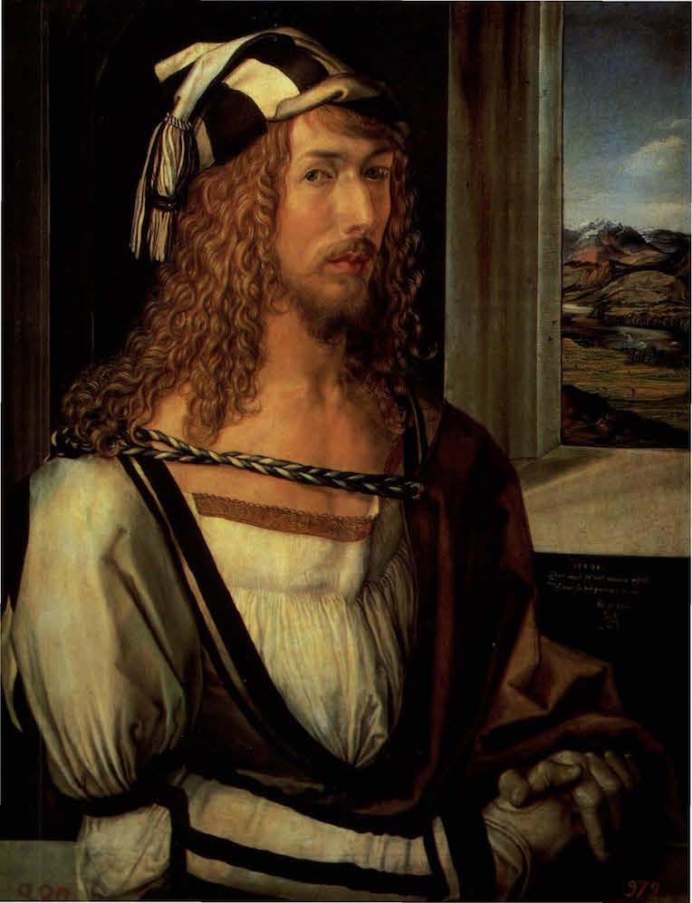 Albrecht Dürer Autoportrait aux gants 1498