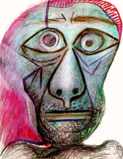 Pablo Picasso, Autoportrait face à la mort, 1972