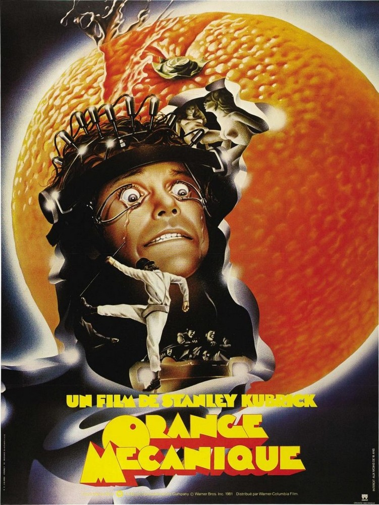 Orange mécanique de Stanley Kubrick, affiche
