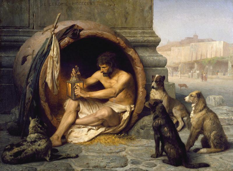 Jean-Léon Gérôme, Diogène de Sinope, 1860