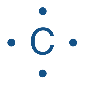 Représentation de Lewis du carbone