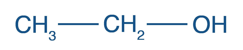 Formule semi-développées de l'éthanol