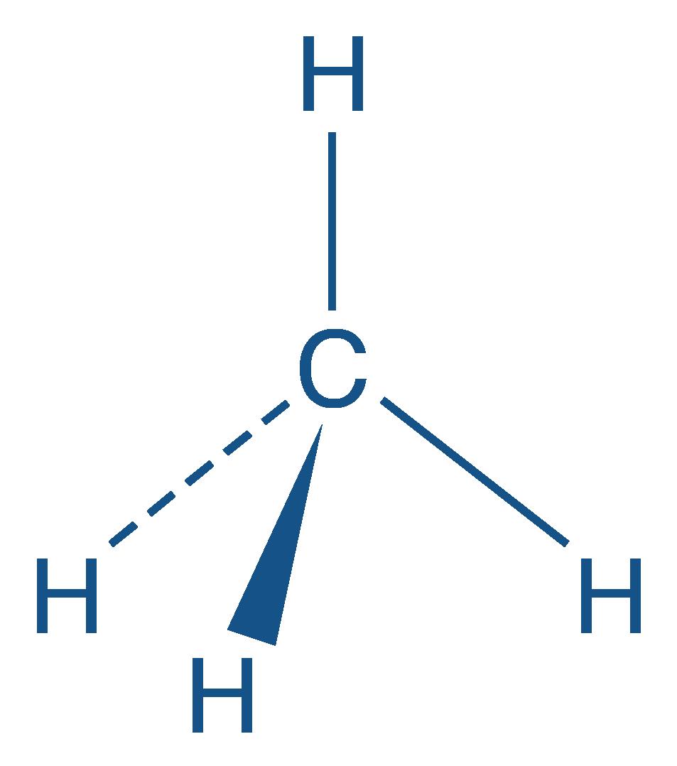 Représentation de Cram du méthane