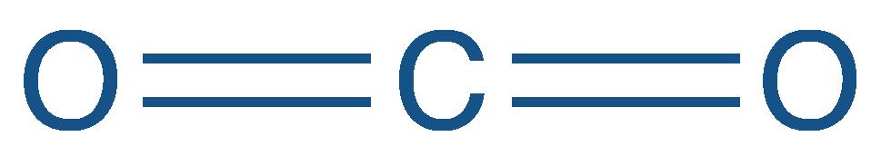 Formule semi-développée du dioxyde de carbone