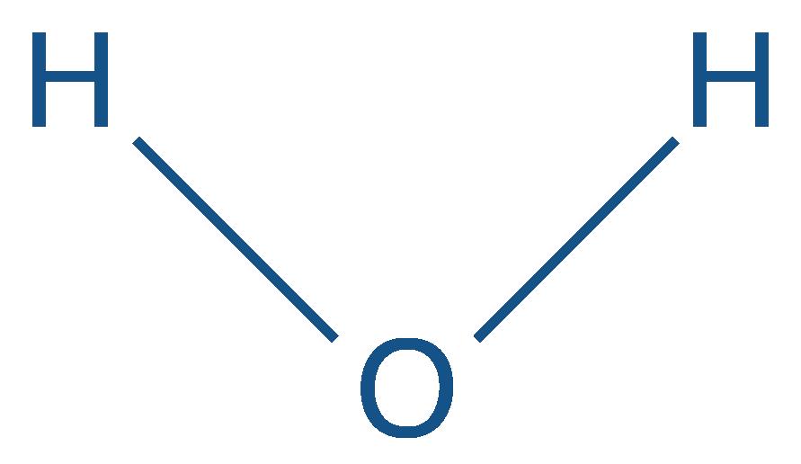 Formule semi-développée de l'eau