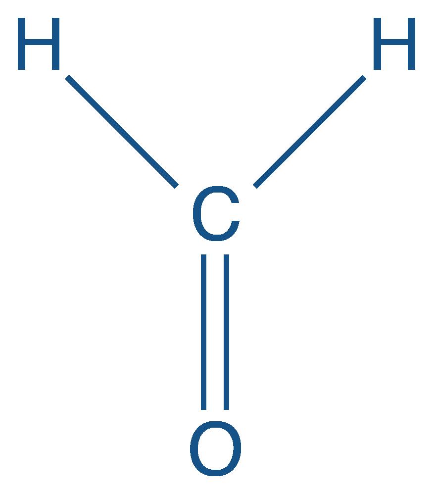 Formule semi-développée du méthanal