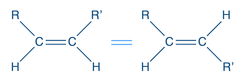Formules semi-développées d'une molécule à liaison carbone simple