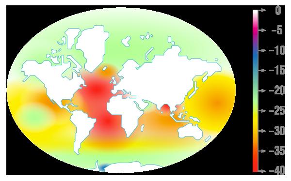 Cartographie de la variation du carbonate depuis la révolution industrielle physique-chimie terminale