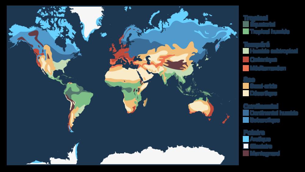 Répartition mondiale des climats