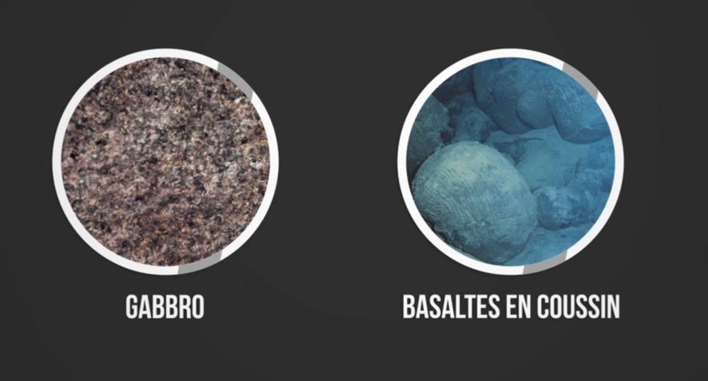 Gabbro et Basaltes en coussin
