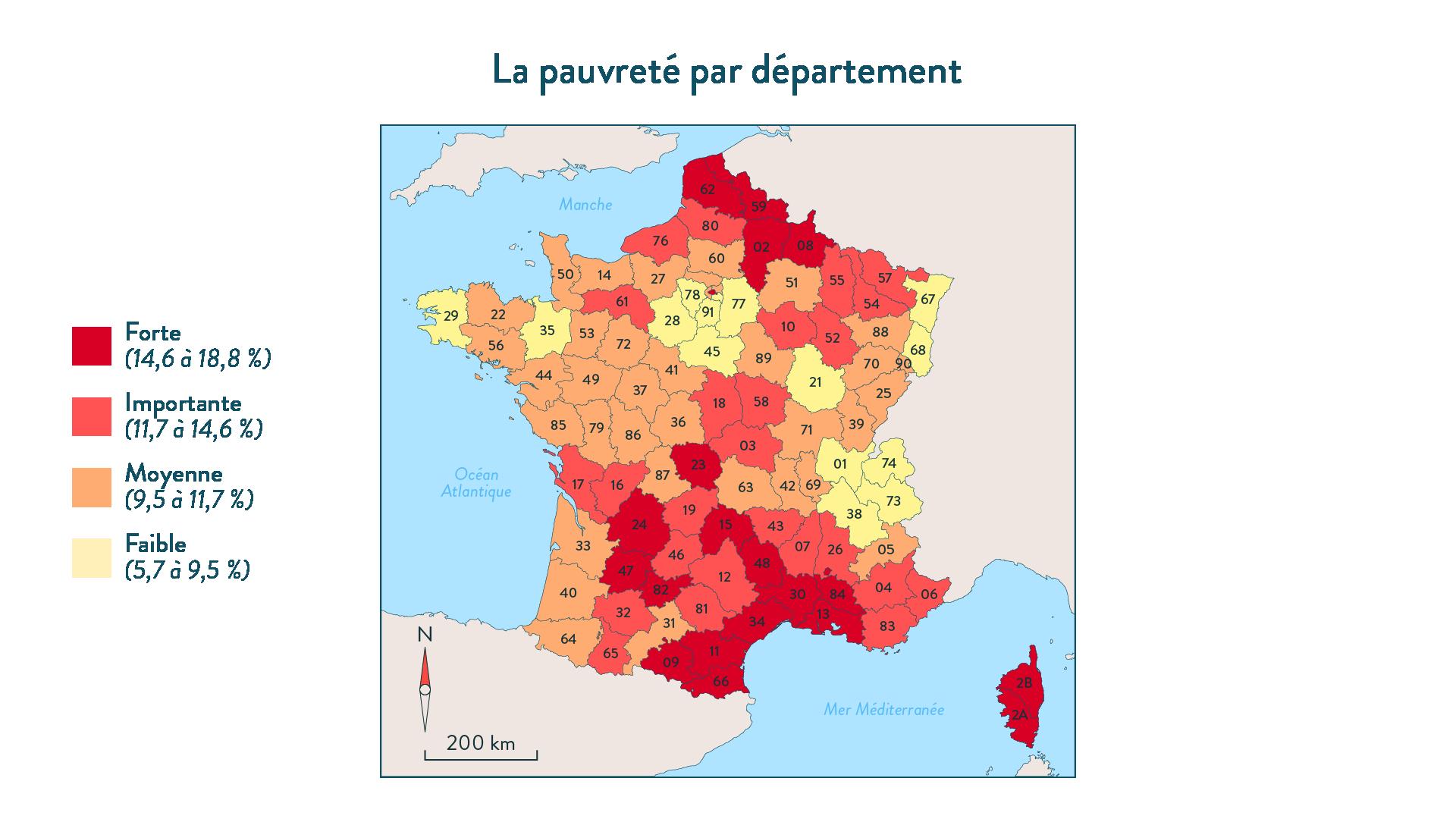 La pauvreté par département SES terminale