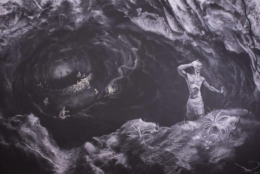 La caverne de Platon, fresque de Damien Lhomme Philosophie terminale