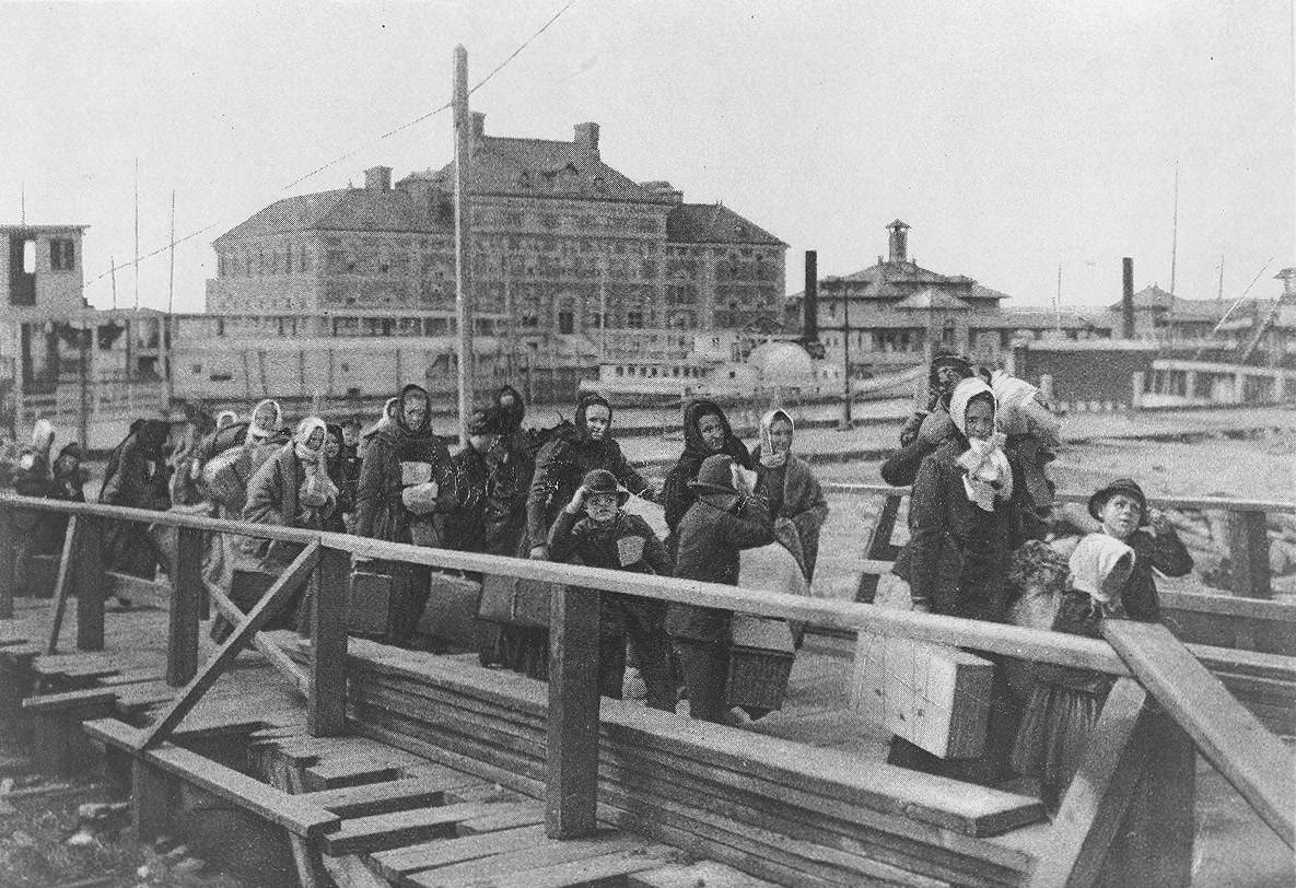 Immigrants à Ellis Island, artiste inconnu, 1902