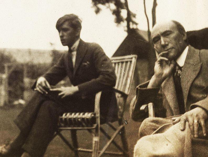 Marc Allégret et André Gide en 1920 littérature terminale Les Faux-Monnayeurs