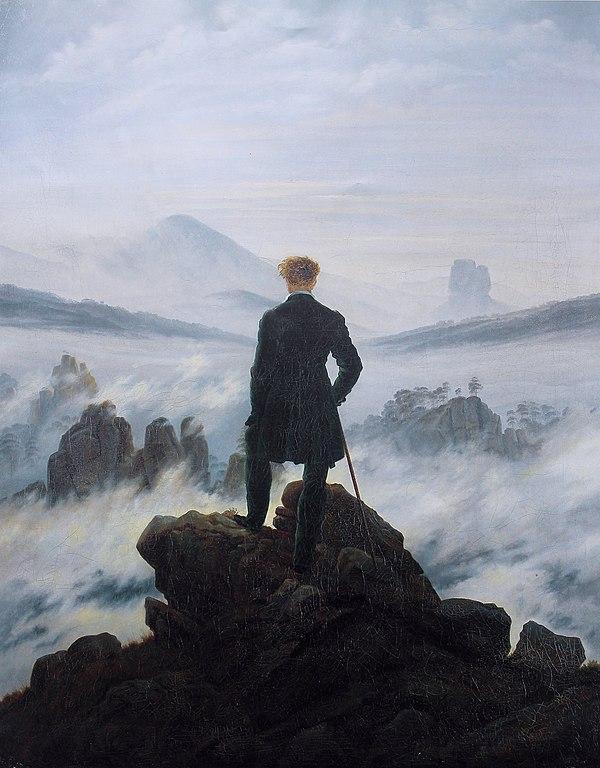 C. D. Friedrich, Le voyageur contemplant une mer de nuages, 1818 romantisme