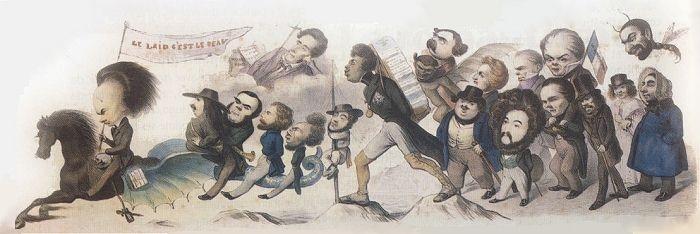 Benjamin Roubaud, La Grande Chevauchée de la Postérité, 1842 romantisme